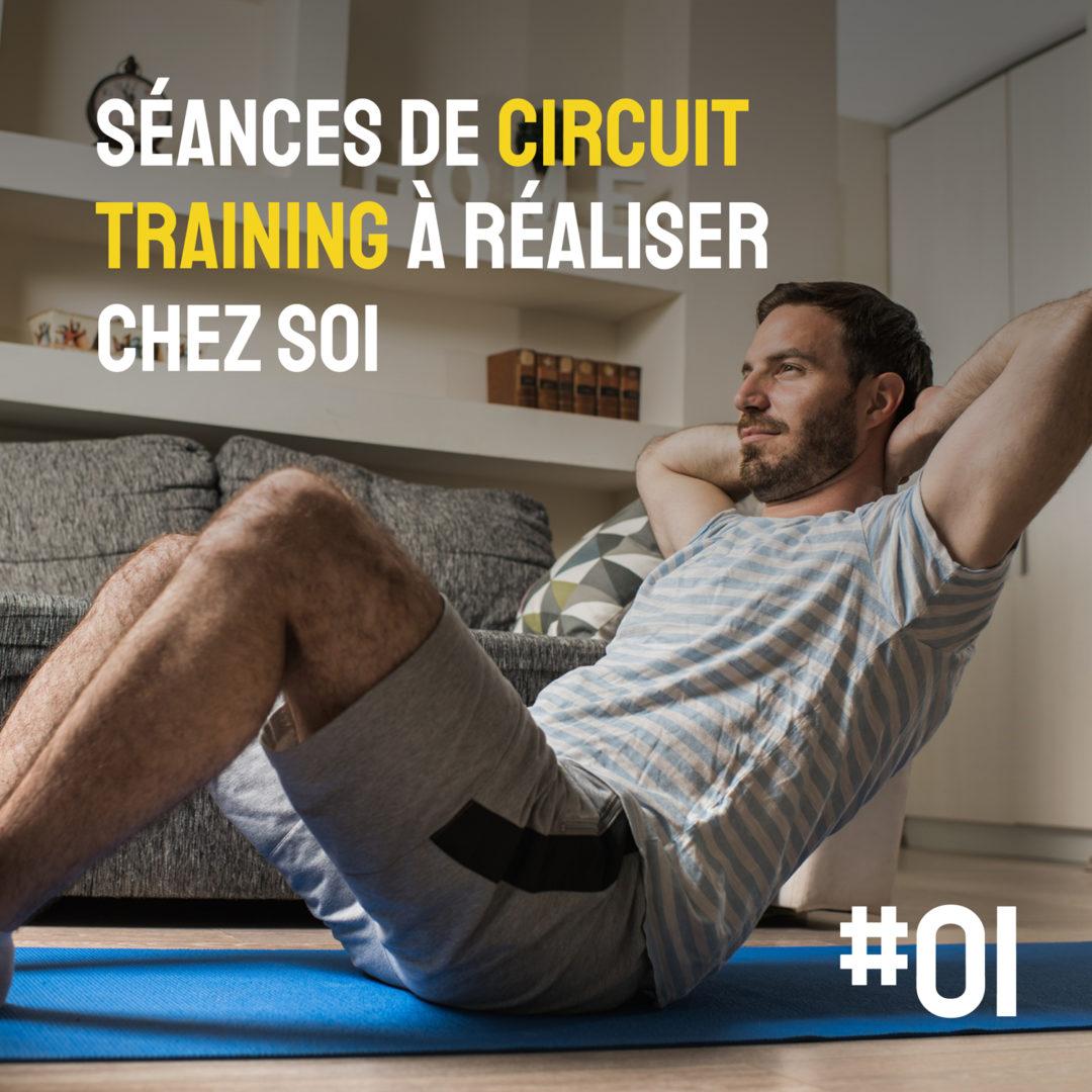 Circuit training à la maison